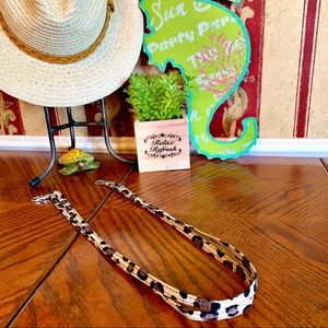 Accessories - Lanyard Cheetah Print with Double Lobster Clasps